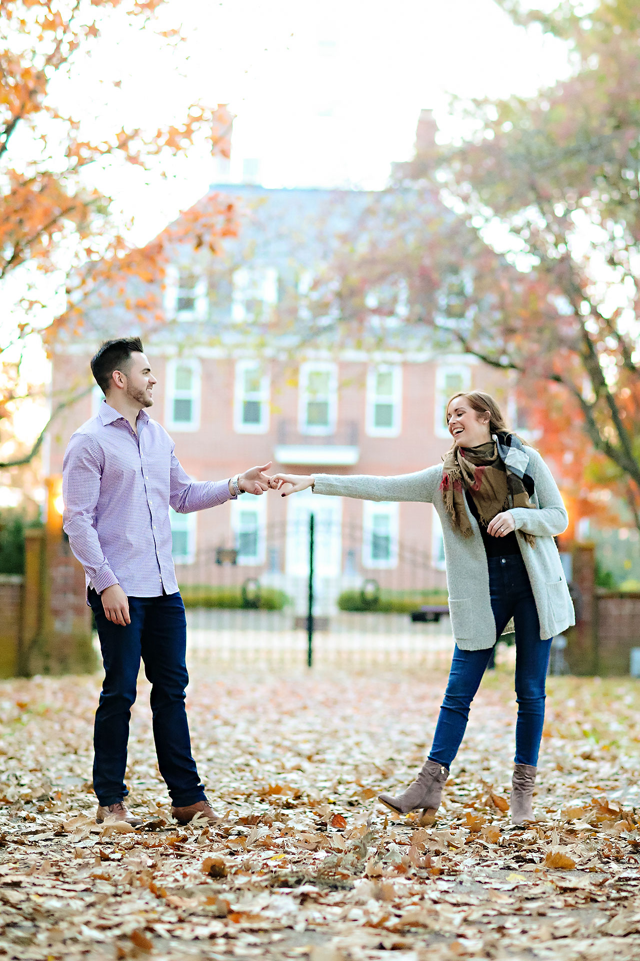 Callie Josh Carmel Indiana Engagement Session 111