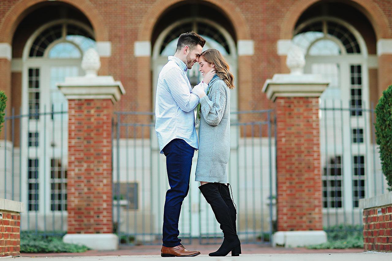 Callie Josh Carmel Indiana Engagement Session 095