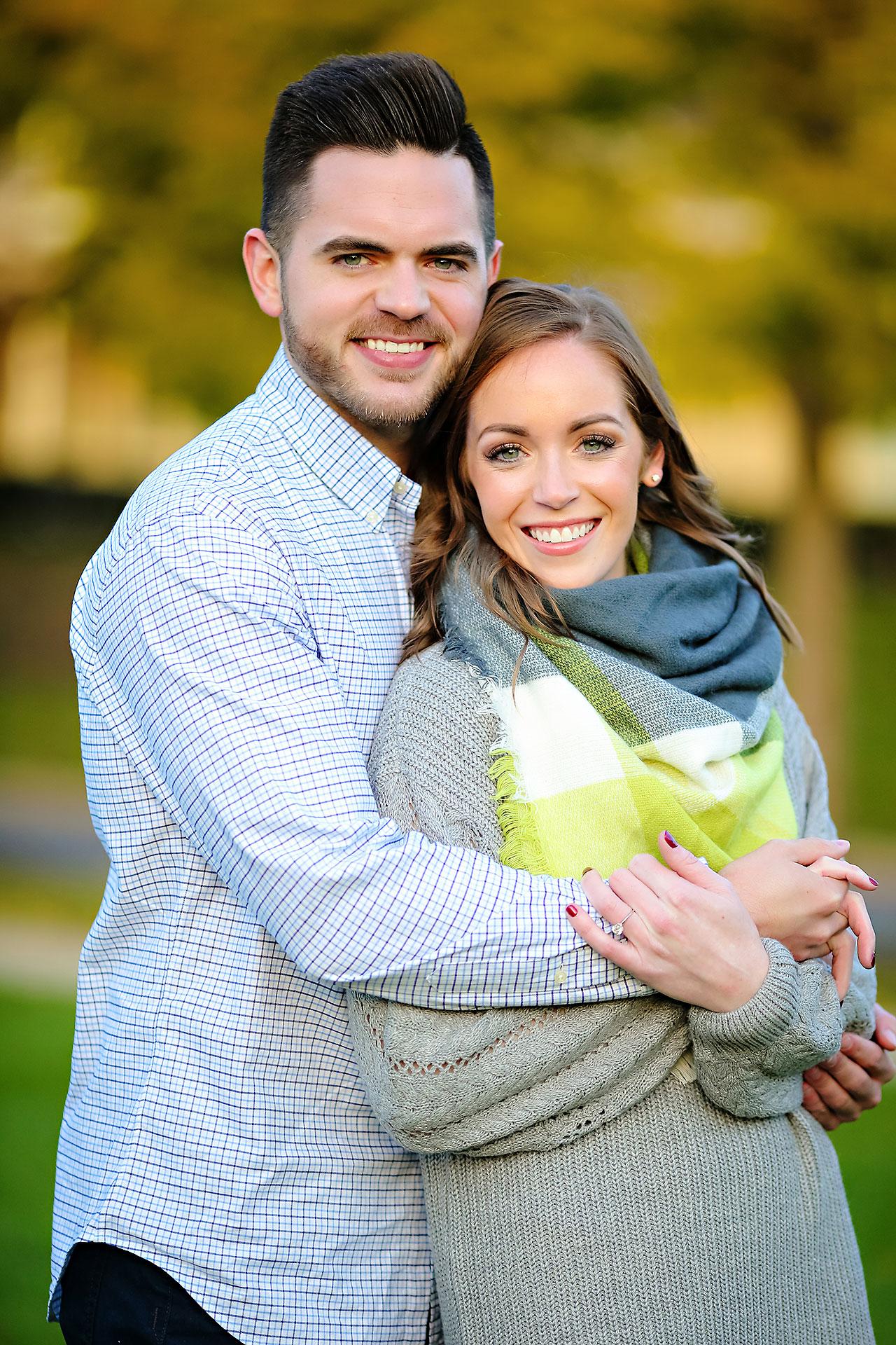 Callie Josh Carmel Indiana Engagement Session 090