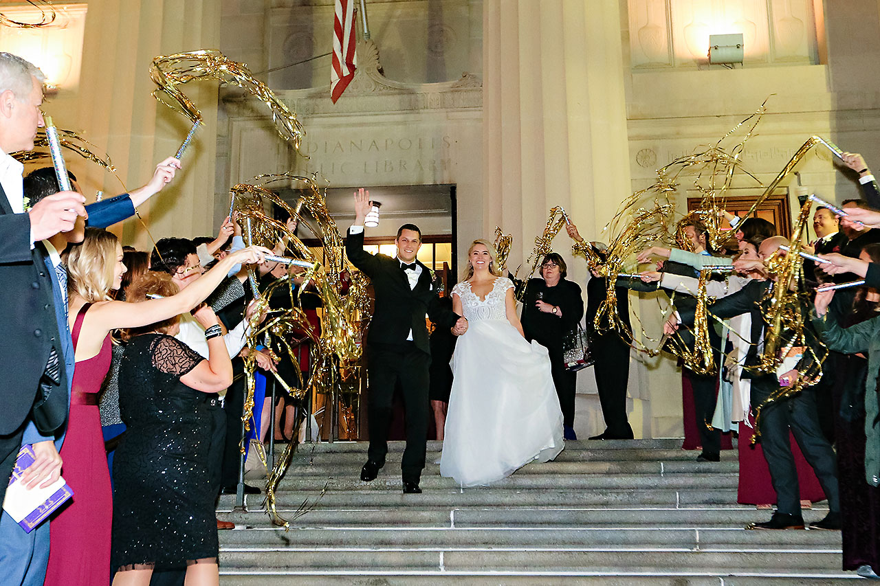 Emily Alex Indianapolis Central Library Wedding 403
