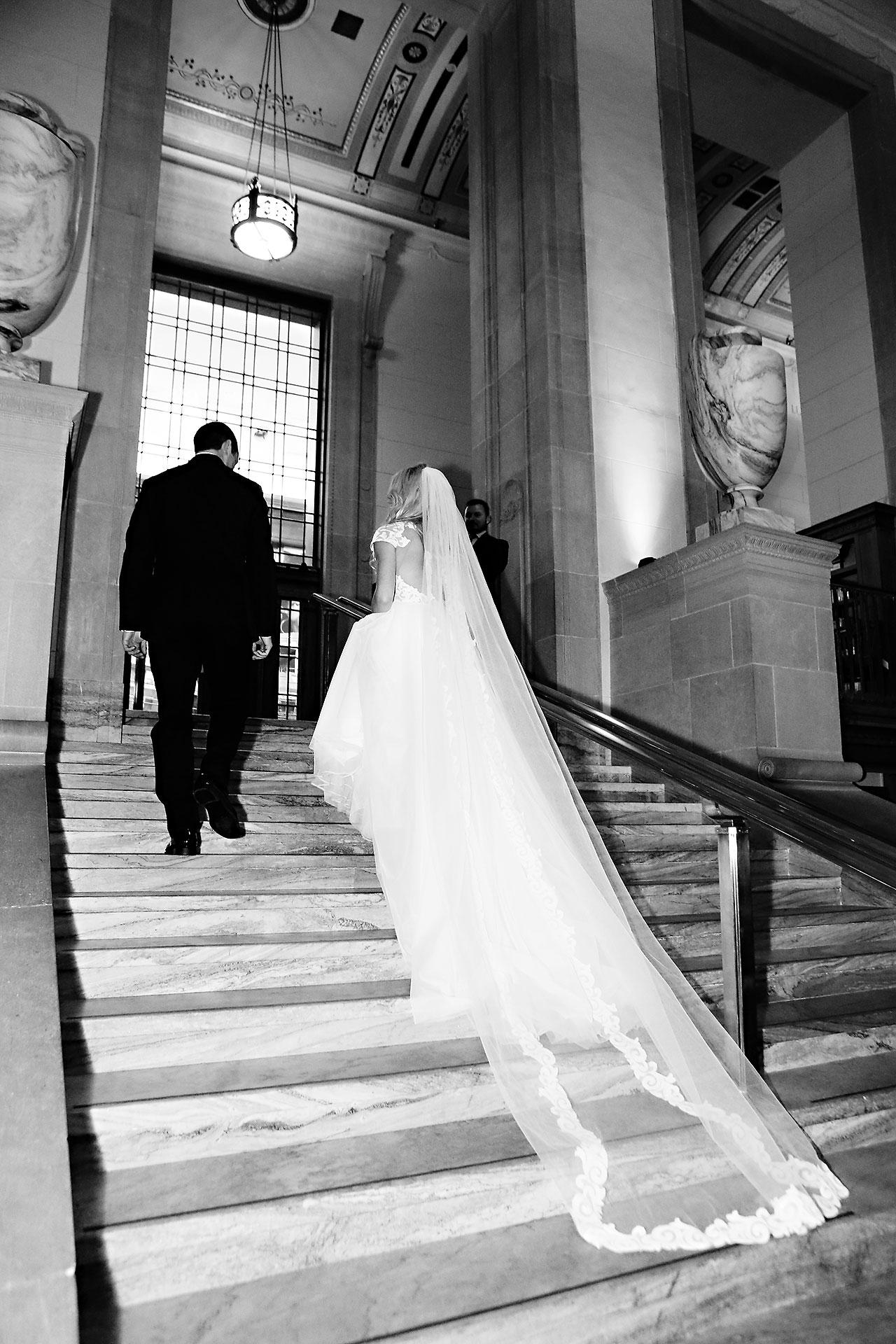 Emily Alex Indianapolis Central Library Wedding 248