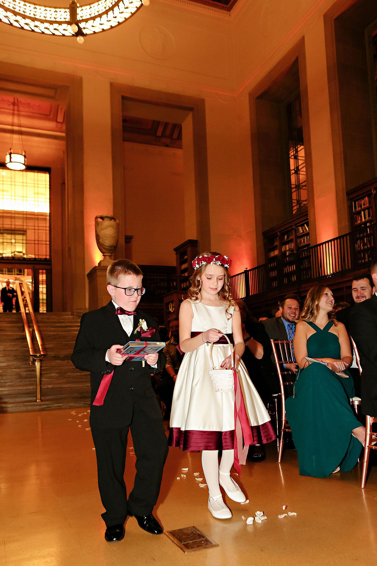 Emily Alex Indianapolis Central Library Wedding 231