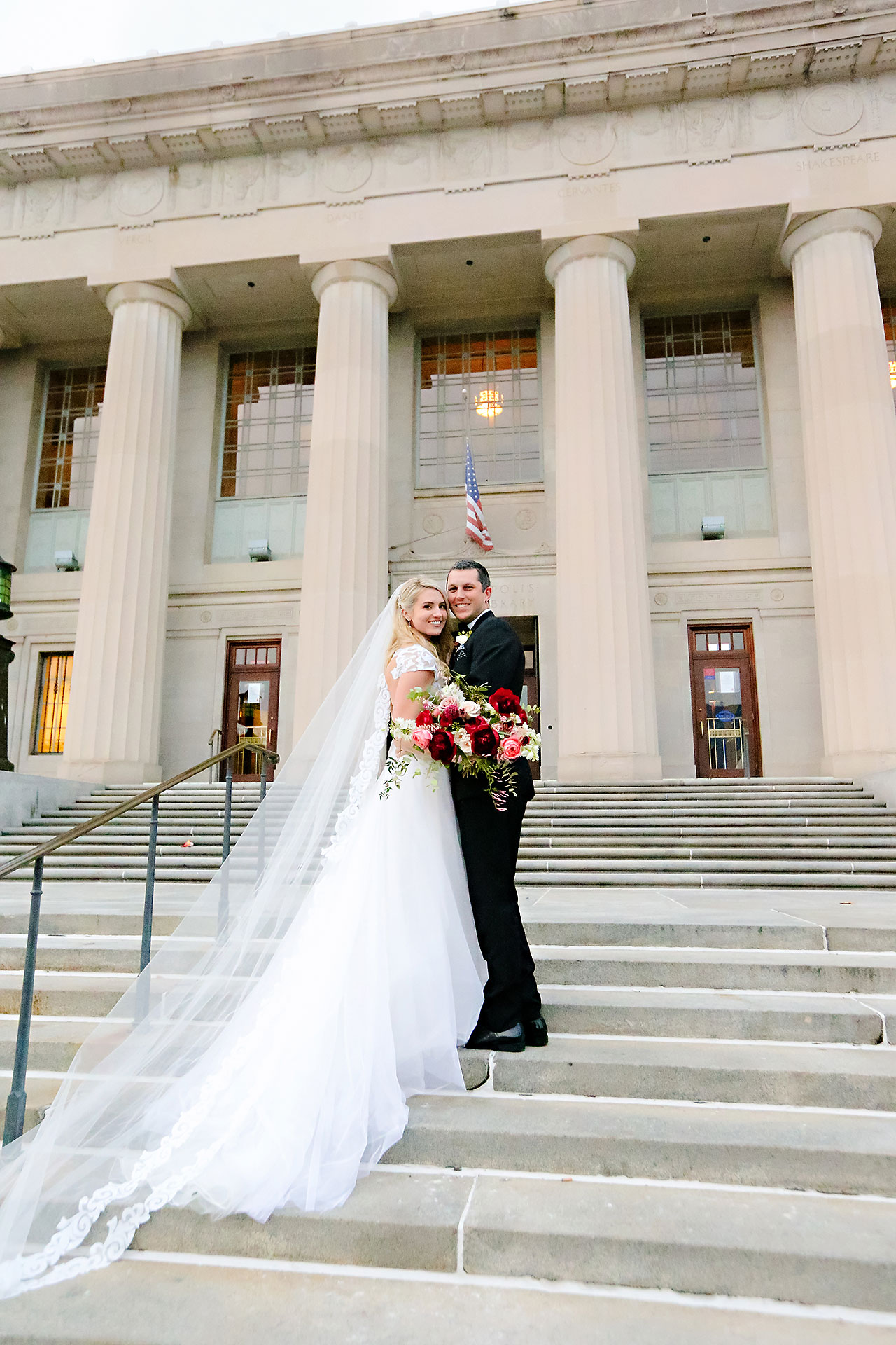 Emily Alex Indianapolis Central Library Wedding 196