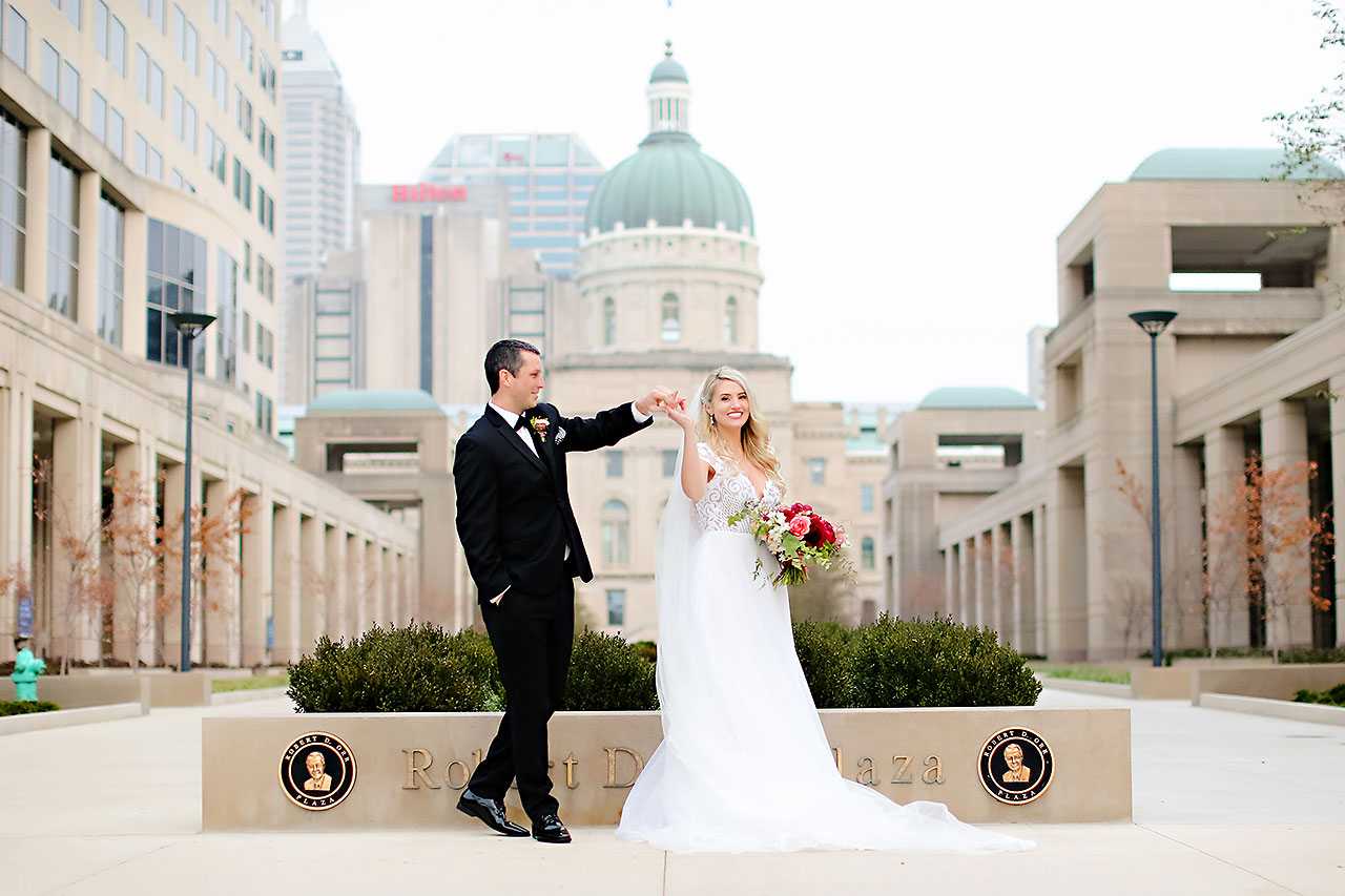 Emily Alex Indianapolis Central Library Wedding 182