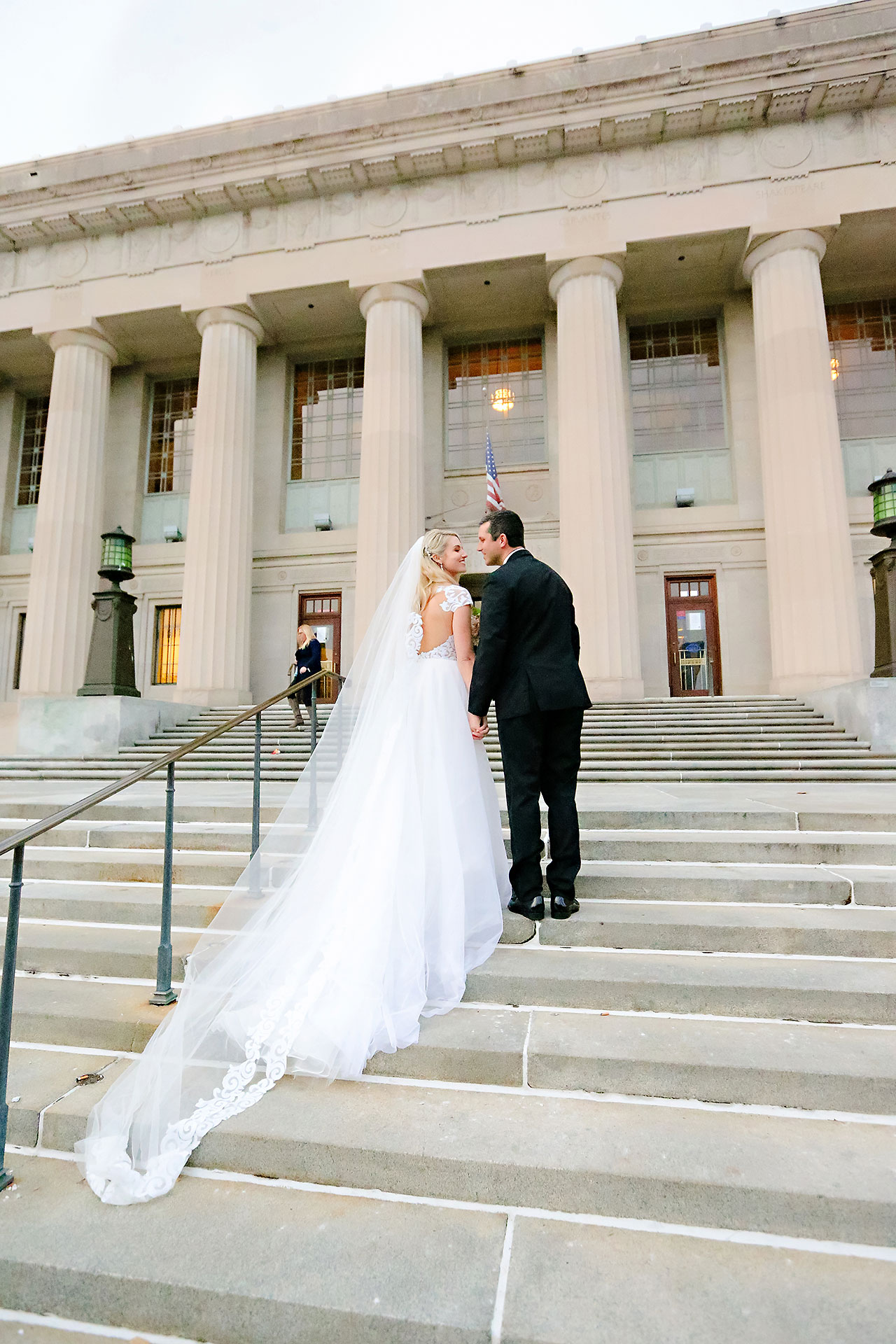 Emily Alex Indianapolis Central Library Wedding 175