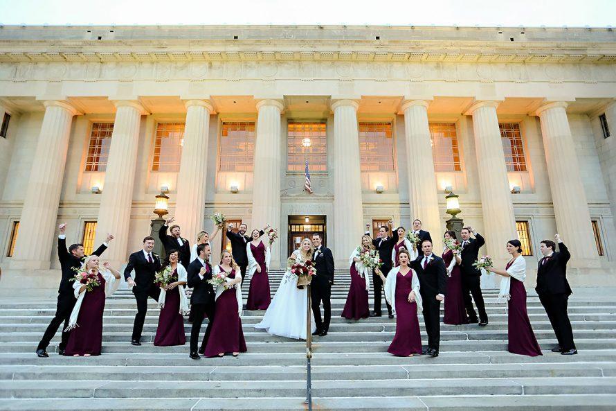 Emily Alex Indianapolis Central Library Wedding