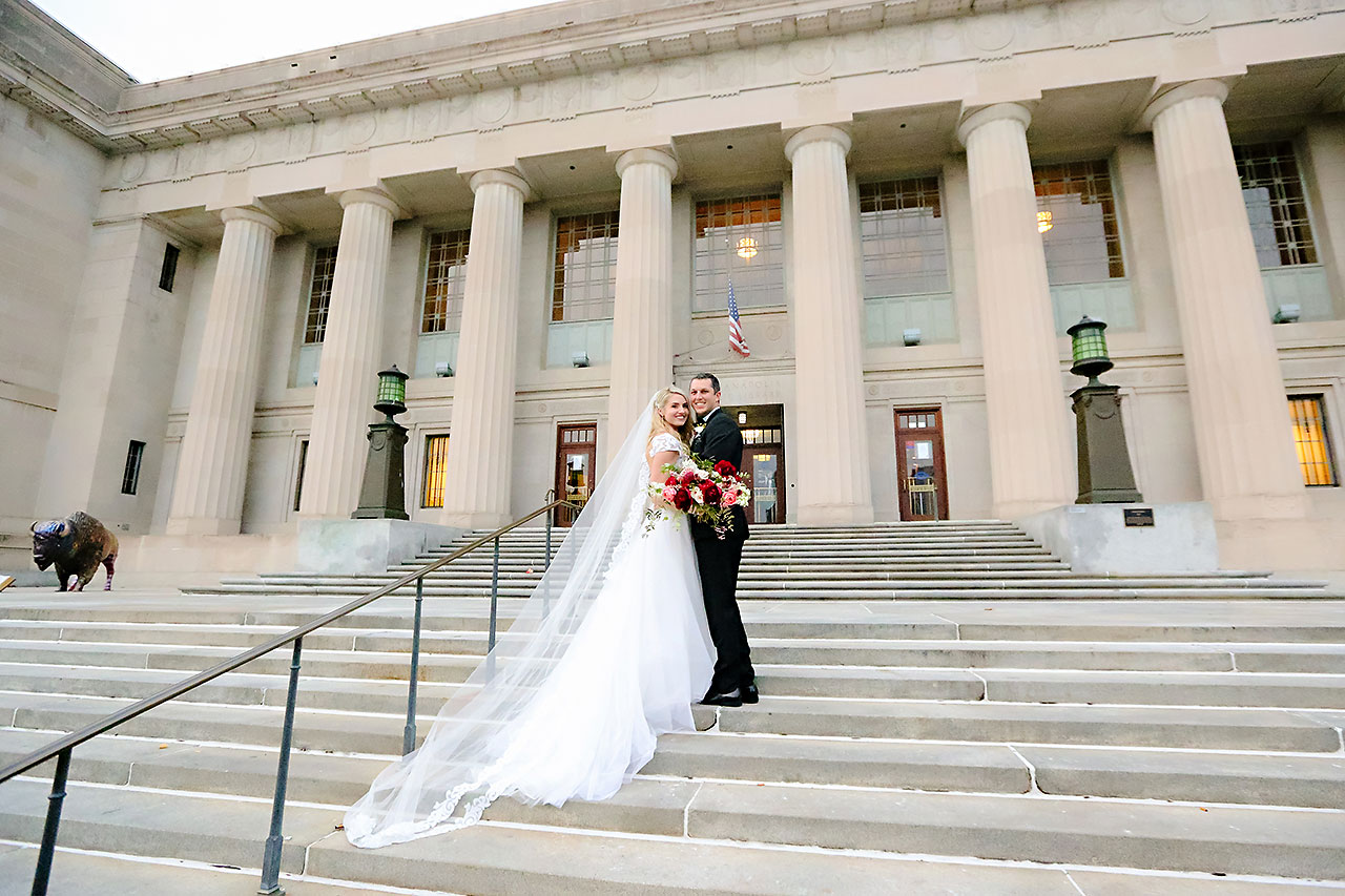 Emily Alex Indianapolis Central Library Wedding 167