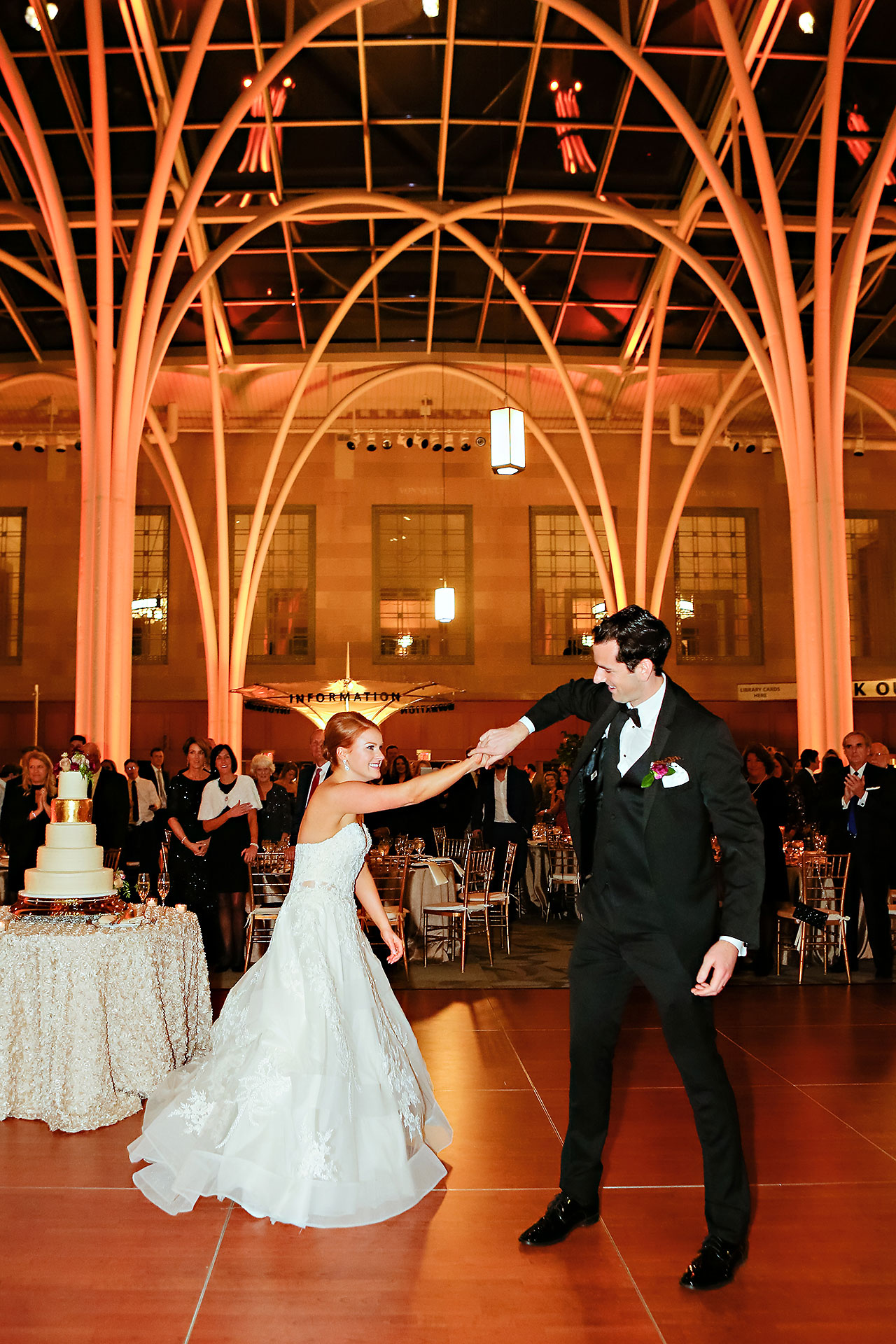 Marianne Steven Indianapolis Central Library Wedding 273