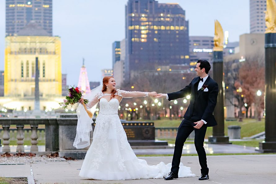 Marianne Steven Indianapolis Central Library Wedding