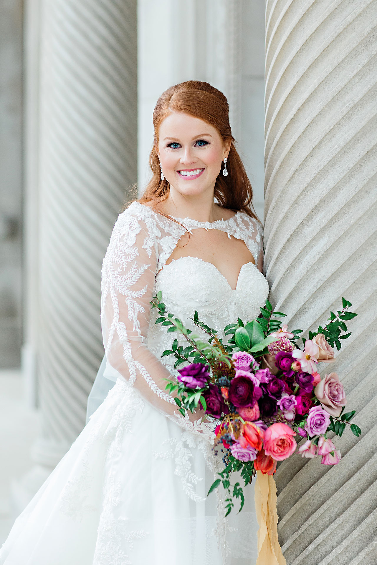 Marianne Steven Indianapolis Central Library Wedding 171