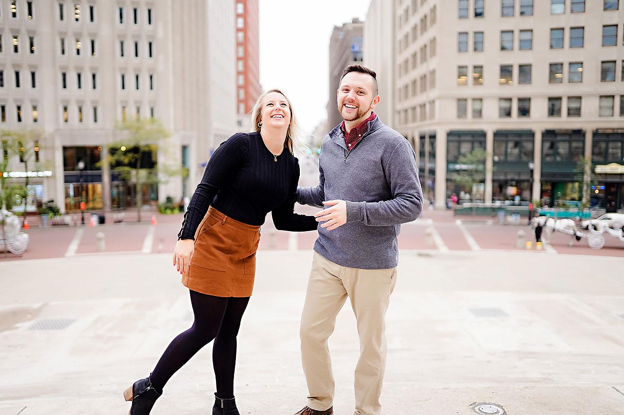 Kristen Jonny Indianapolis Downtown Engagement Session 115