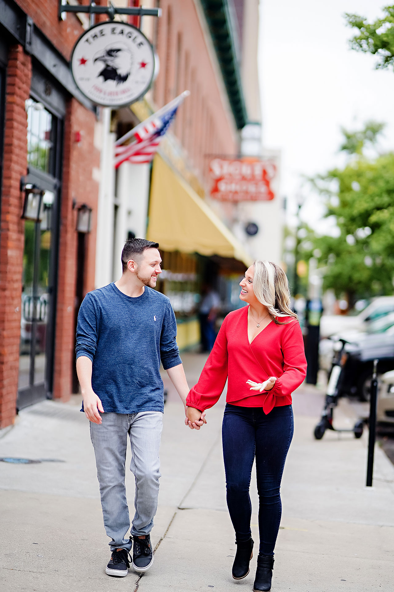 Kristen Jonny Indianapolis Downtown Engagement Session 026