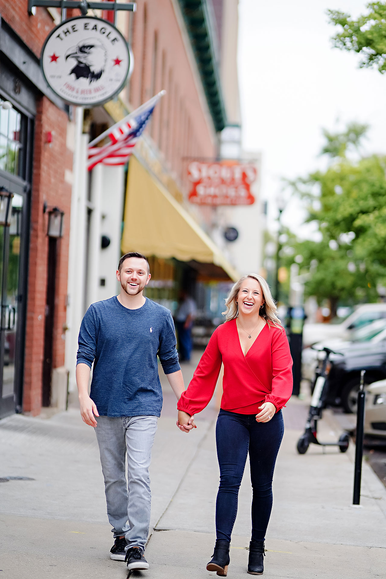 Kristen Jonny Indianapolis Downtown Engagement Session 010