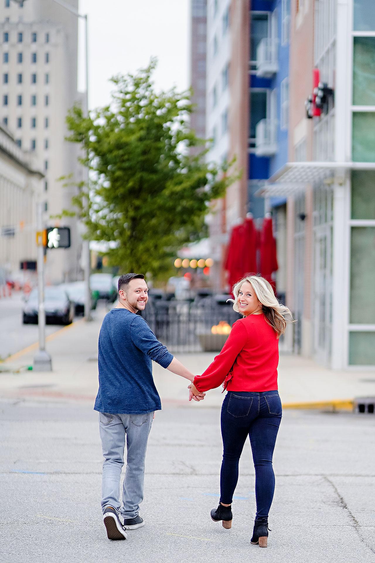 Kristen Jonny Indianapolis Downtown Engagement Session 003