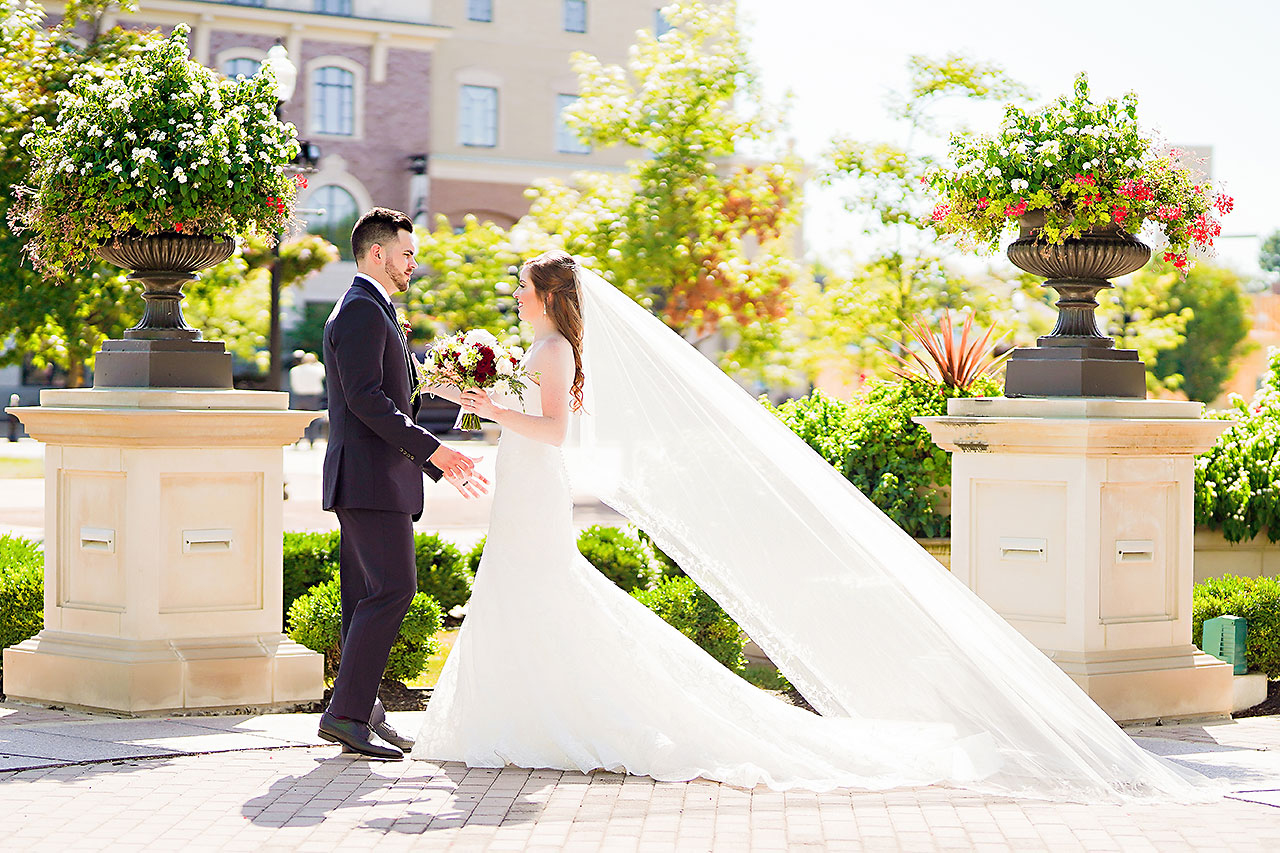 Callie Josh Ritz Charles Garden Pavilion Carmel Indiana Wedding 048