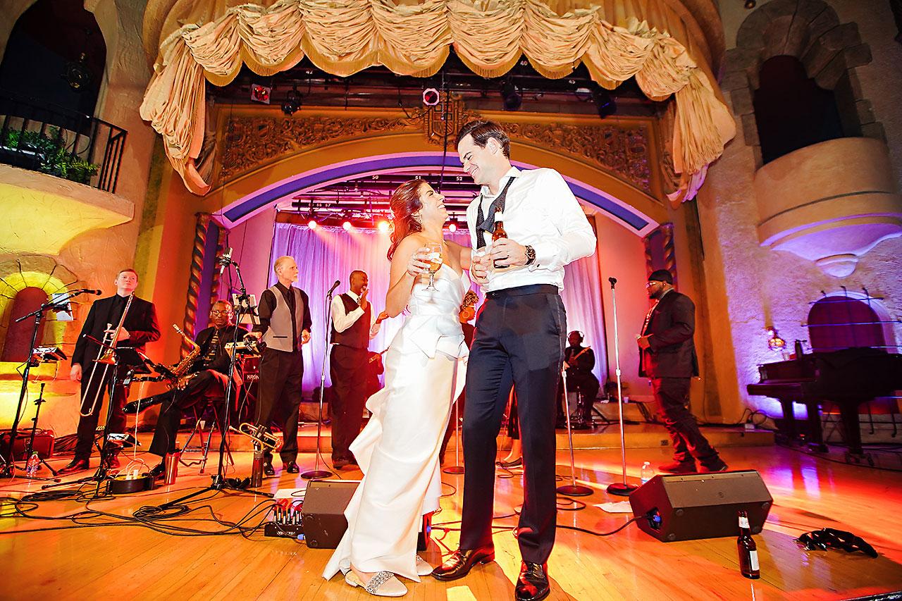 Lucia Matt Indiana Roof Ballroom Wedding Reception 299