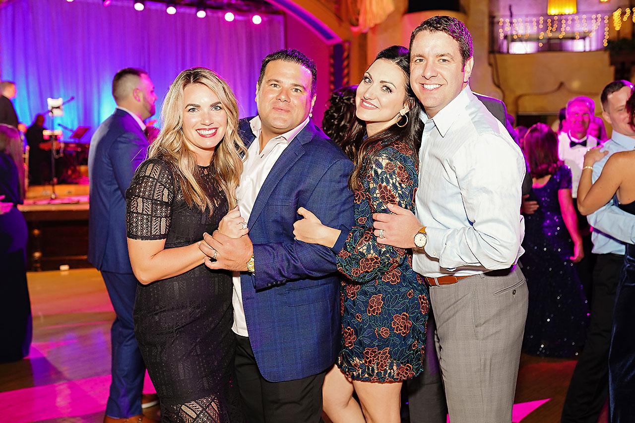 Lucia Matt Indiana Roof Ballroom Wedding Reception 265