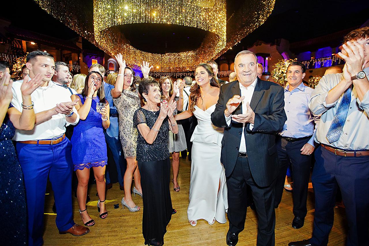 Lucia Matt Indiana Roof Ballroom Wedding Reception 250