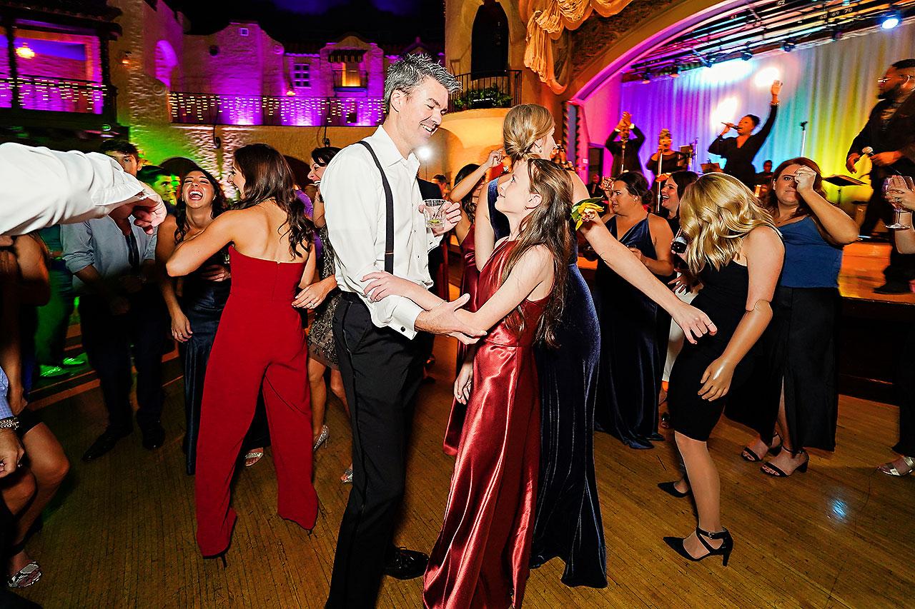 Lucia Matt Indiana Roof Ballroom Wedding Reception 245