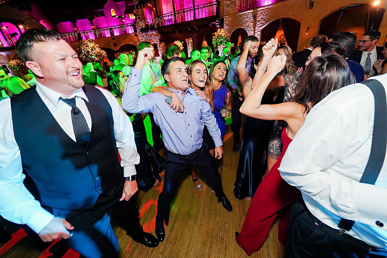 Lucia Matt Indiana Roof Ballroom Wedding Reception 246