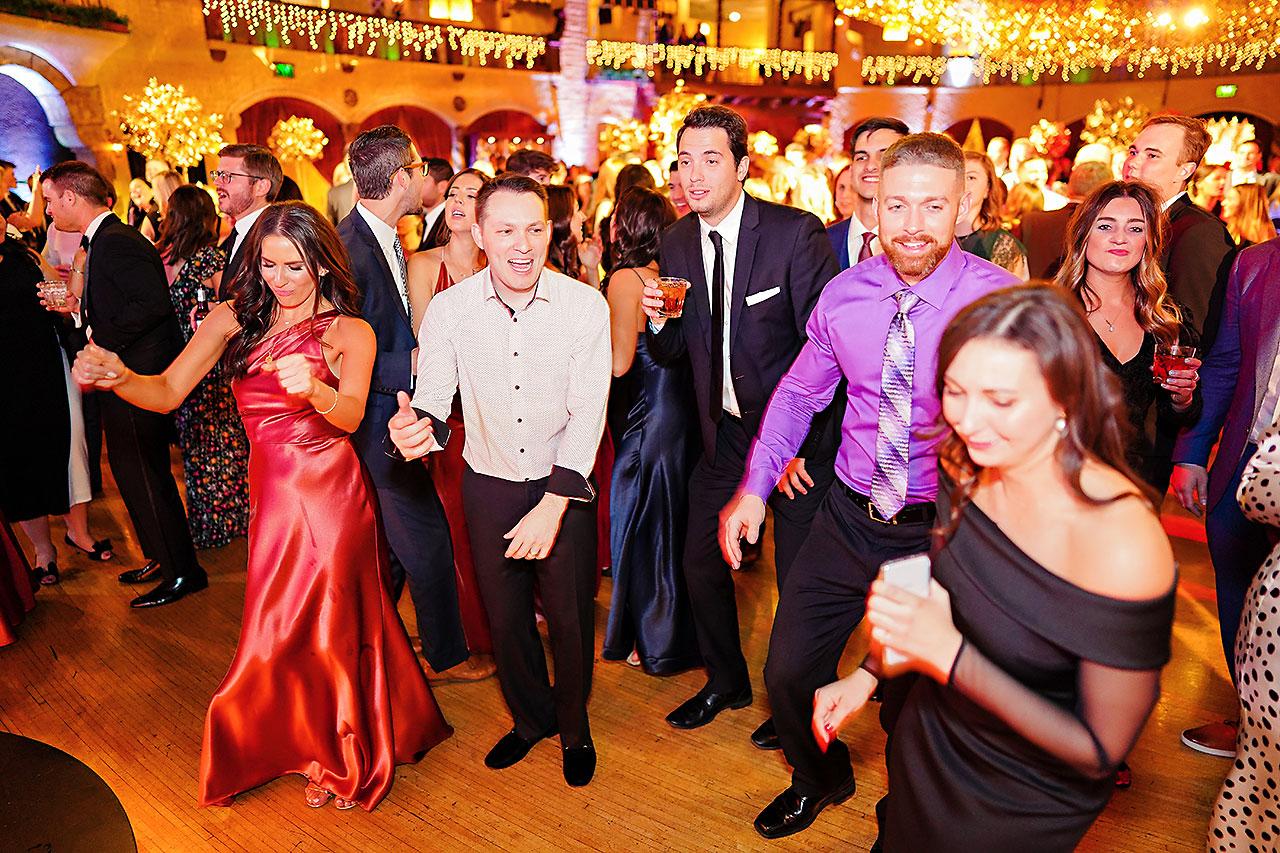 Lucia Matt Indiana Roof Ballroom Wedding Reception 219