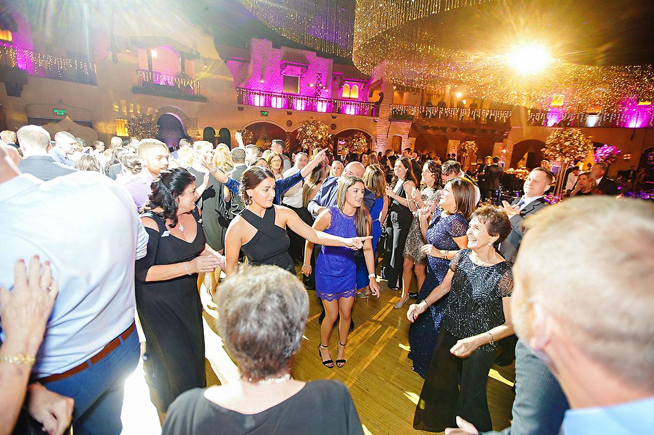 Lucia Matt Indiana Roof Ballroom Wedding Reception 215