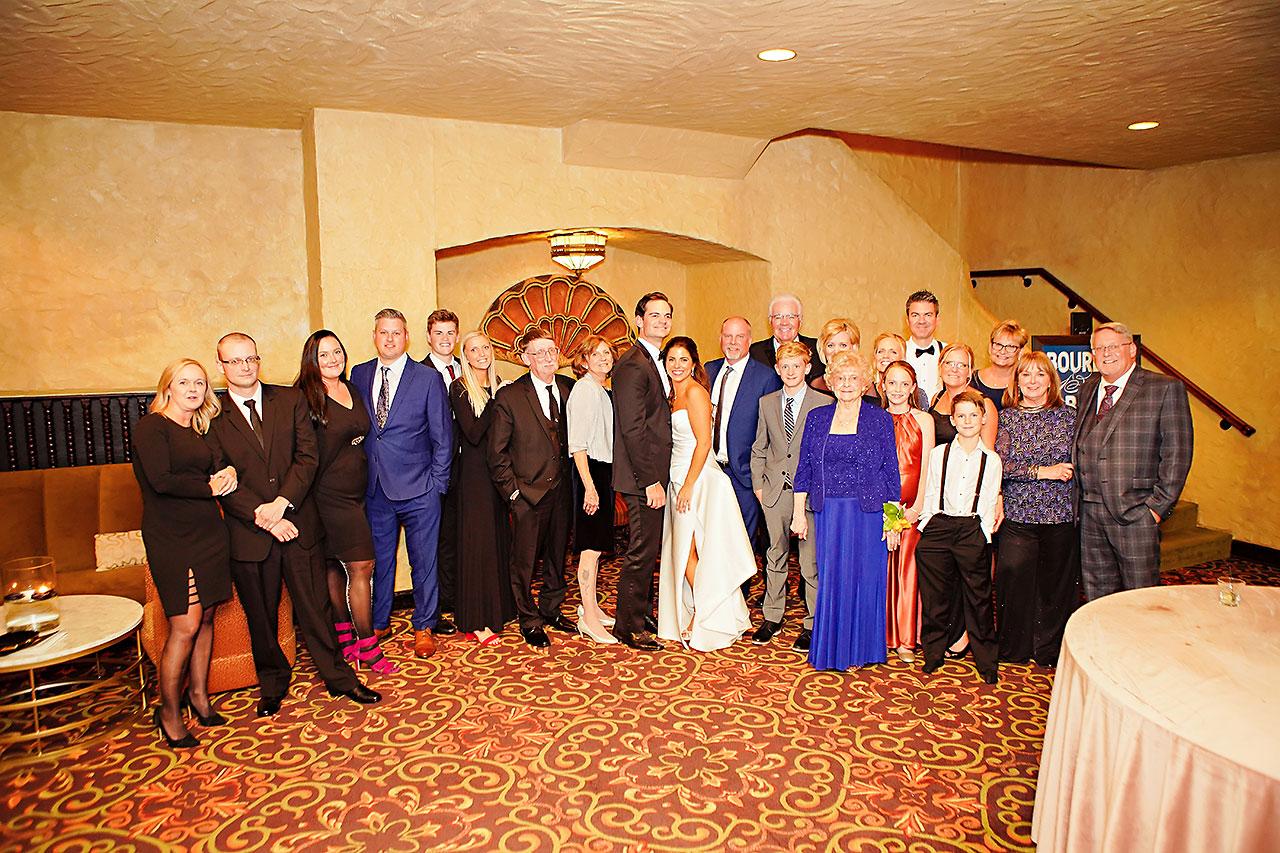 Lucia Matt Indiana Roof Ballroom Wedding Reception 212