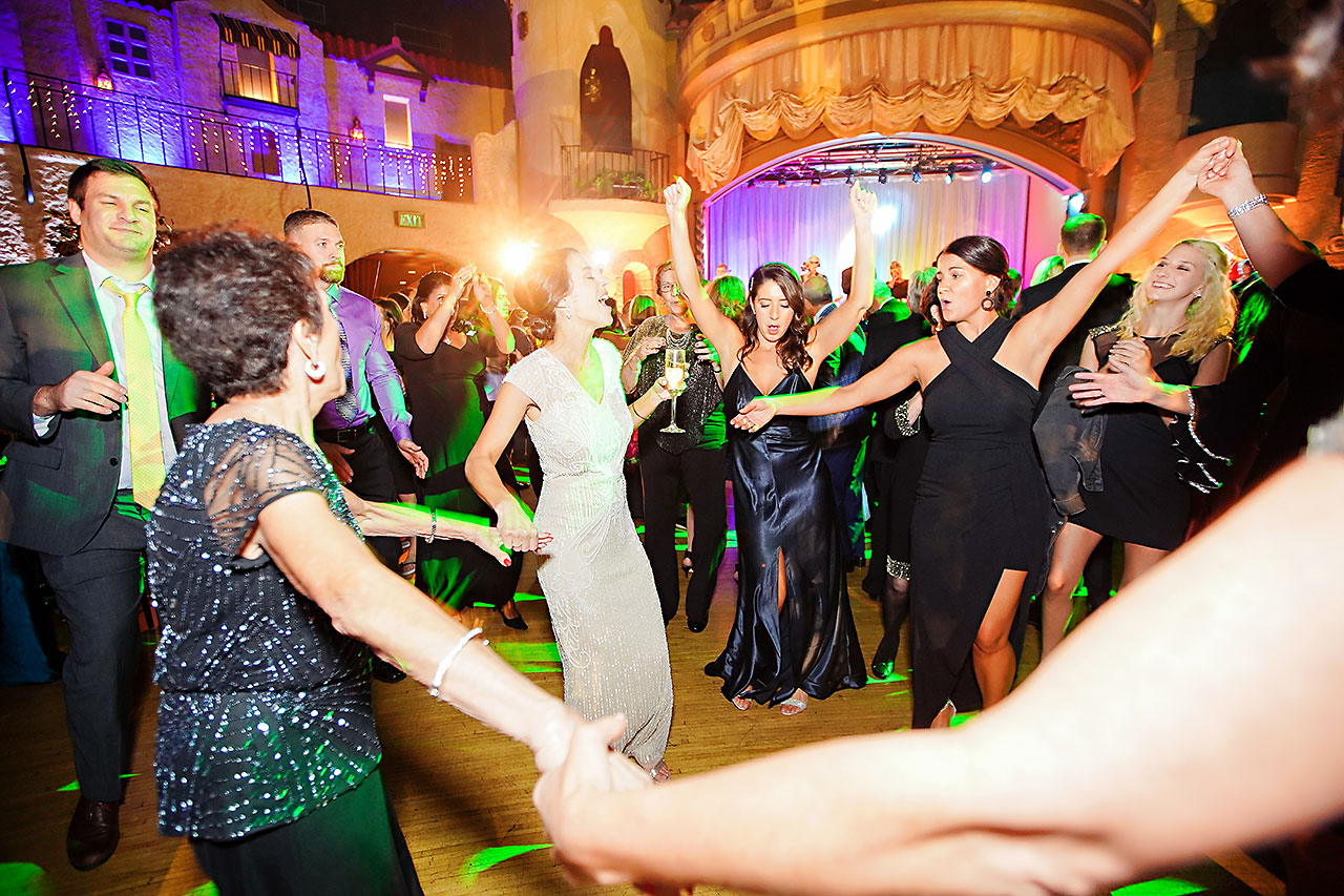 Lucia Matt Indiana Roof Ballroom Wedding Reception 211