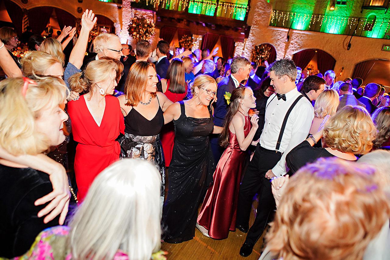 Lucia Matt Indiana Roof Ballroom Wedding Reception 207