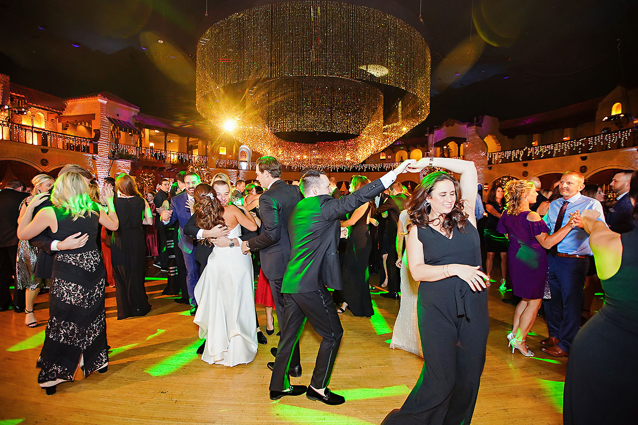 Lucia Matt Indiana Roof Ballroom Wedding Reception 200