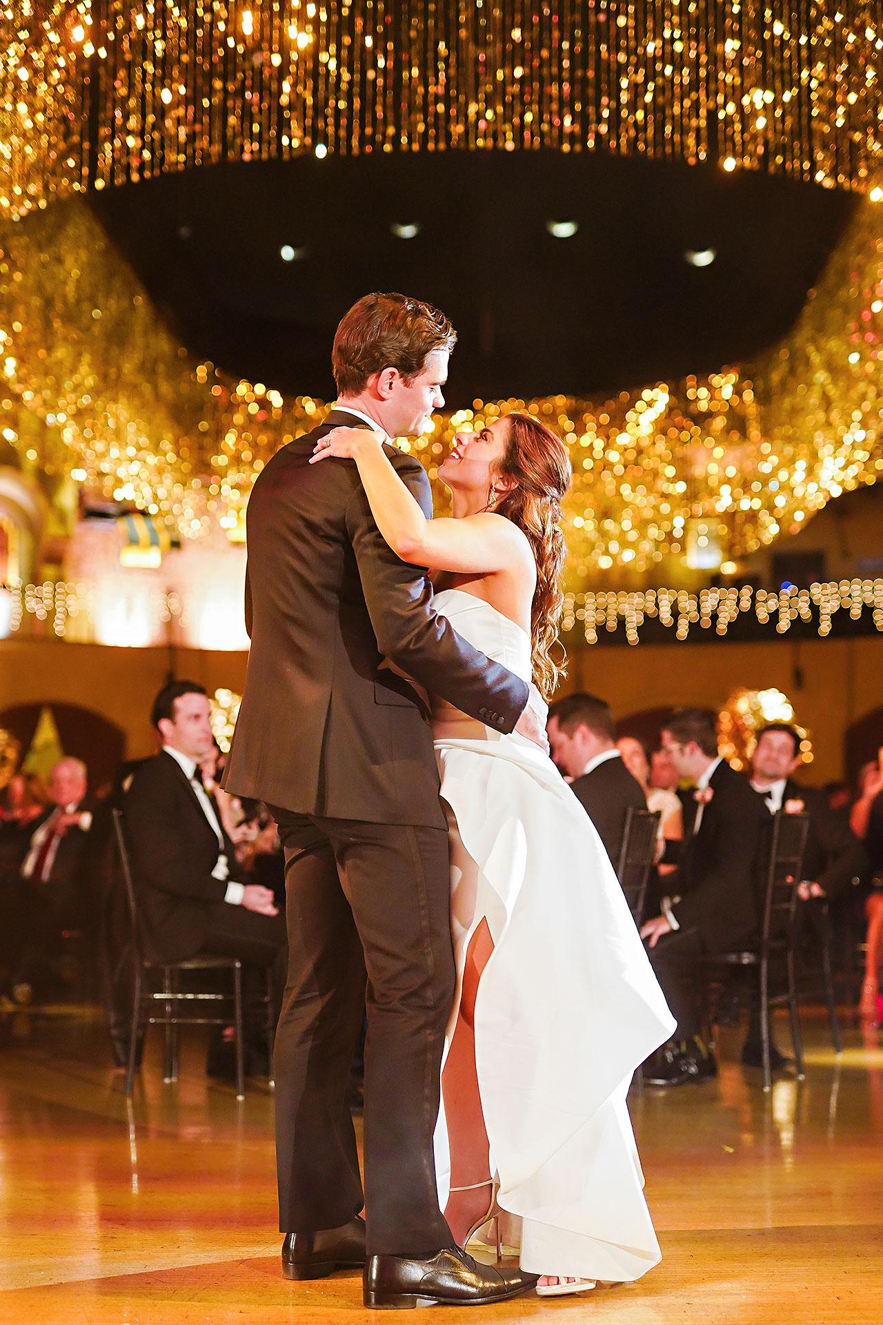 Lucia Matt Indiana Roof Ballroom Wedding Reception 198