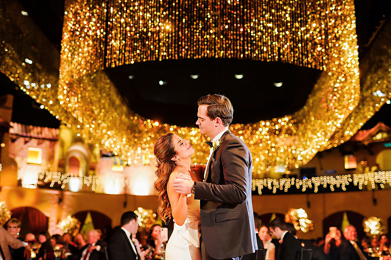 Lucia Matt Indiana Roof Ballroom Wedding Reception 194