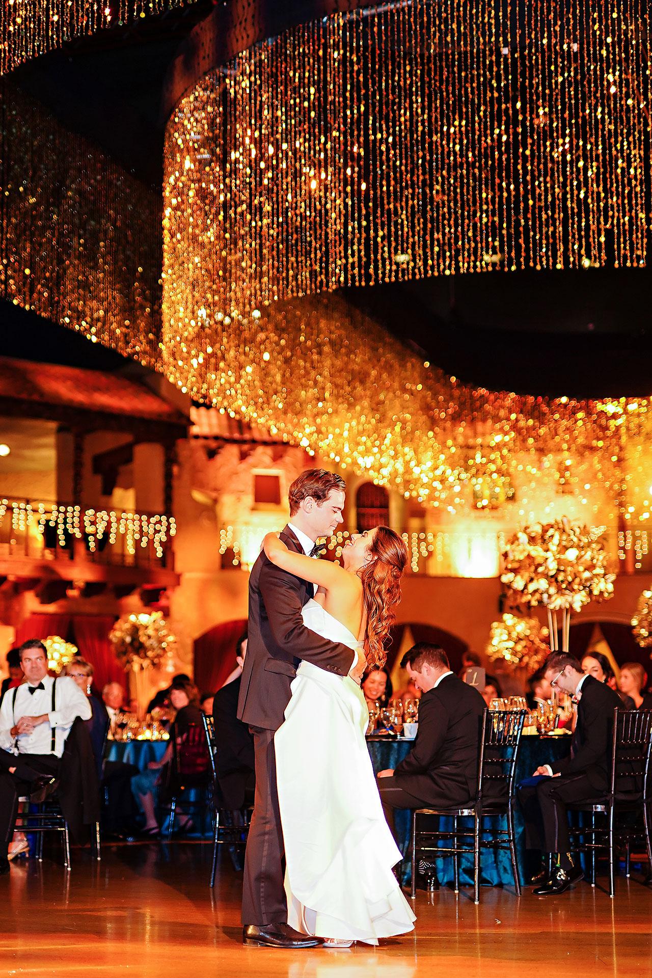 Lucia Matt Indiana Roof Ballroom Wedding Reception 191
