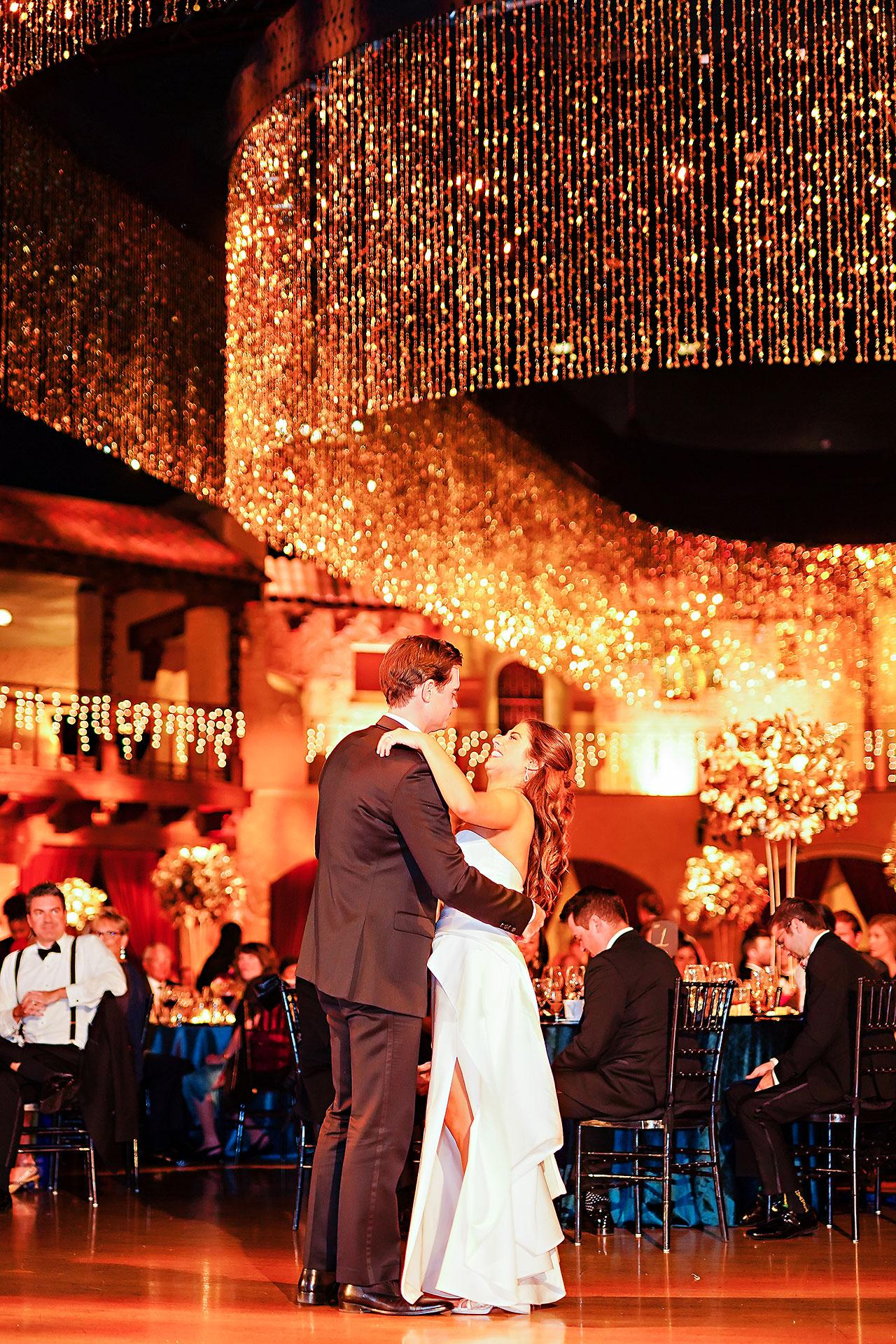 Lucia Matt Indiana Roof Ballroom Wedding Reception 190