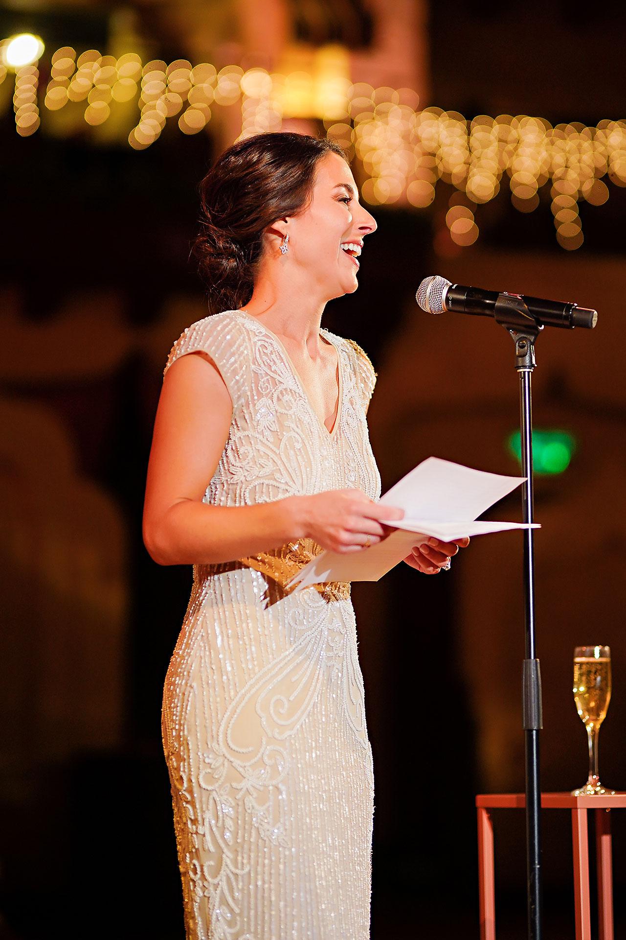 Lucia Matt Indiana Roof Ballroom Wedding Reception 179