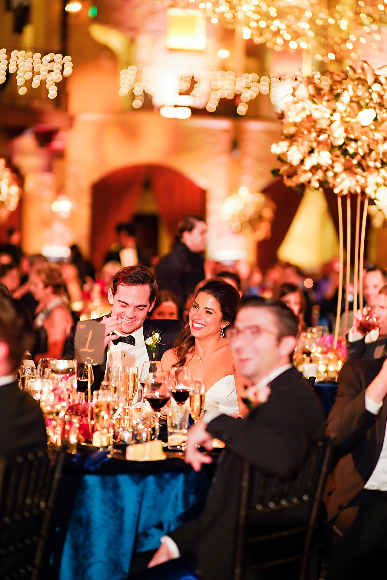 Lucia Matt Indiana Roof Ballroom Wedding Reception 180