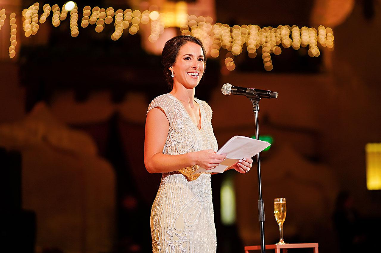 Lucia Matt Indiana Roof Ballroom Wedding Reception 171