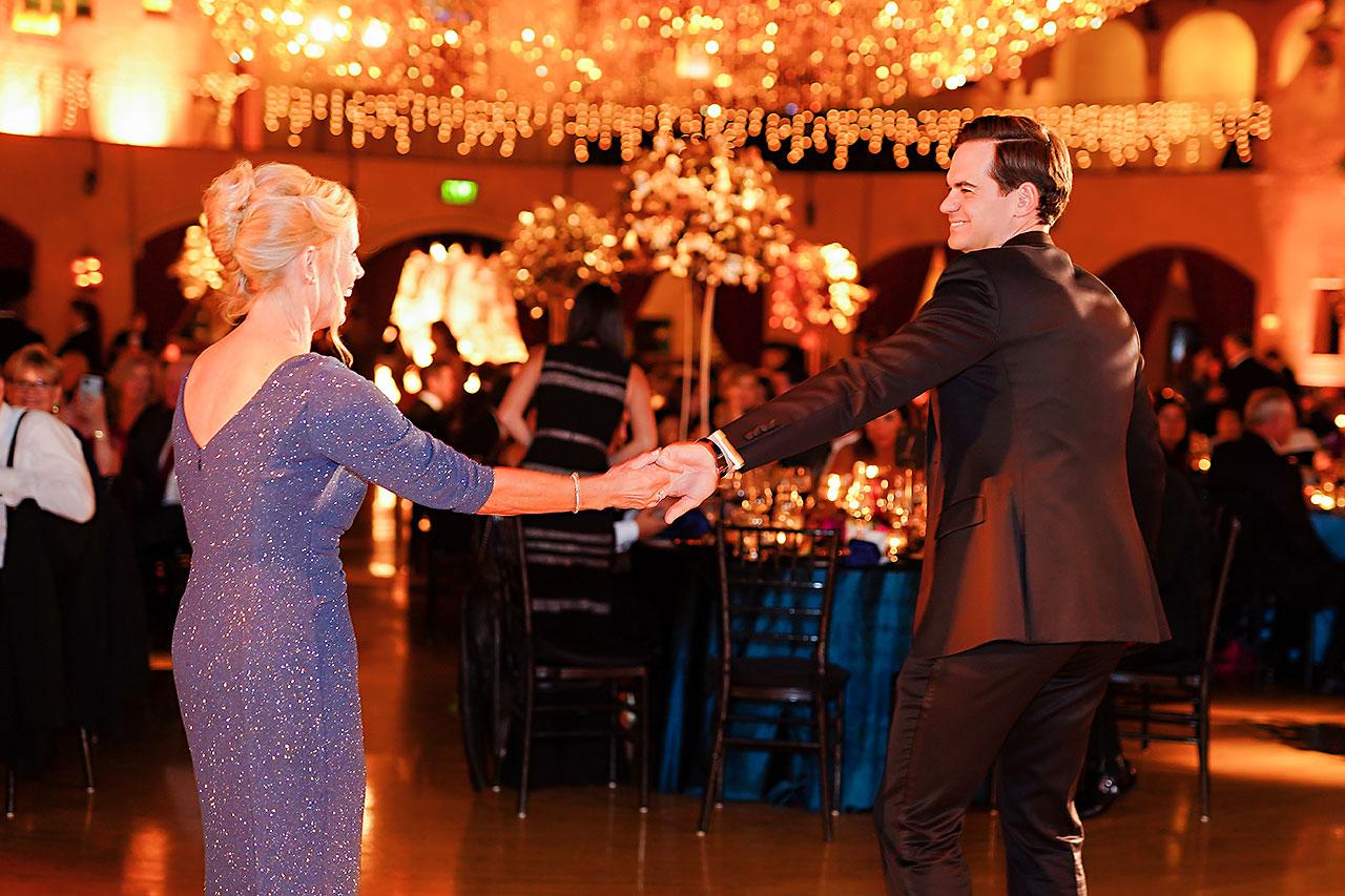 Lucia Matt Indiana Roof Ballroom Wedding Reception 169