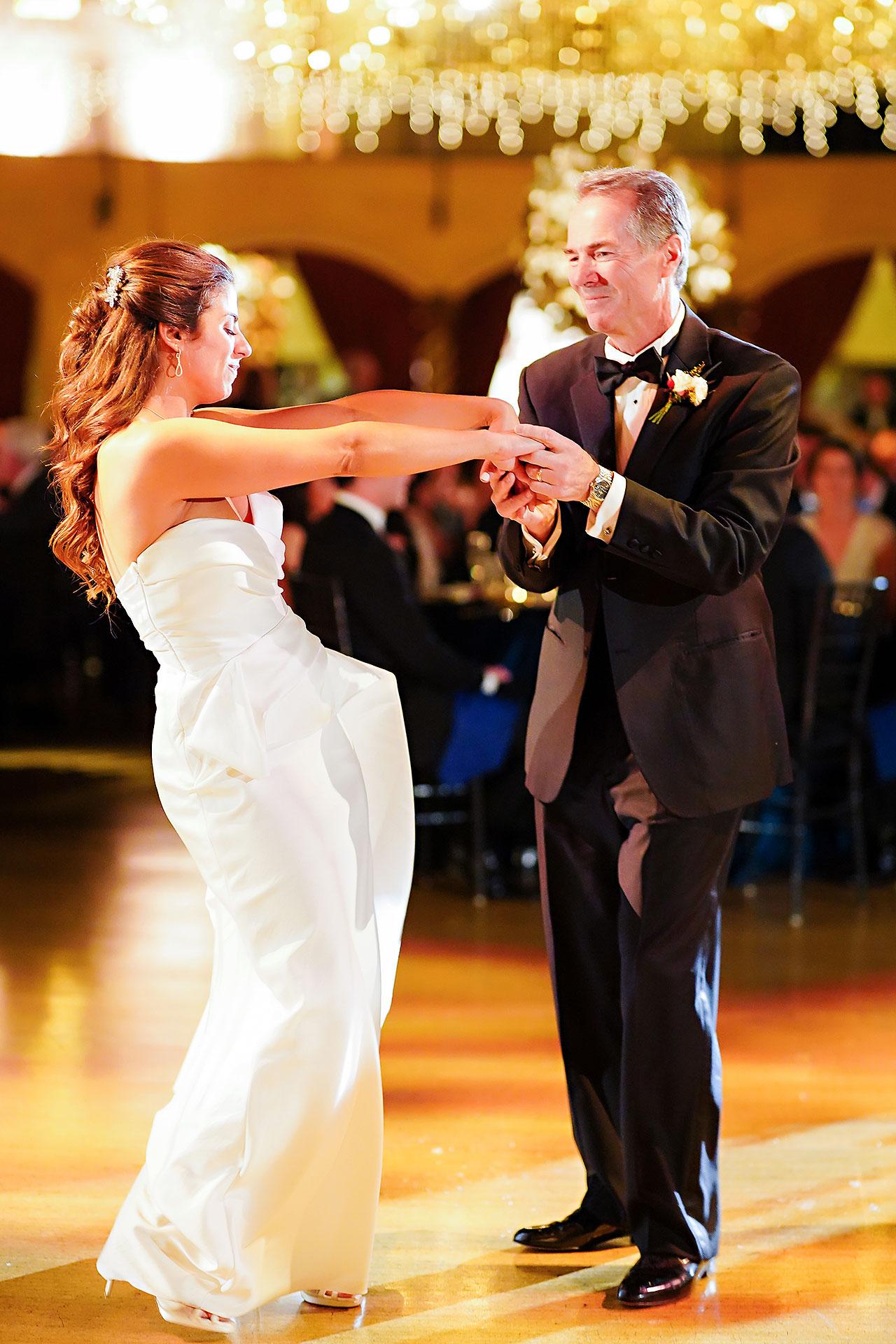 Lucia Matt Indiana Roof Ballroom Wedding Reception 159