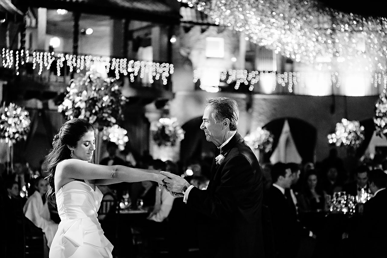 Lucia Matt Indiana Roof Ballroom Wedding Reception 160