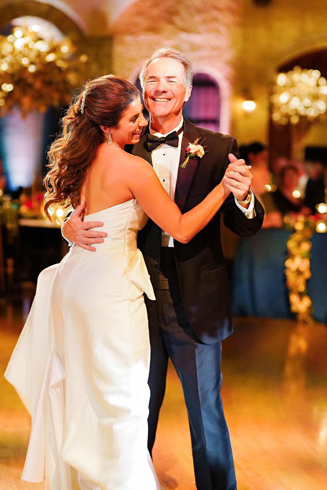 Lucia Matt Indiana Roof Ballroom Wedding Reception 157