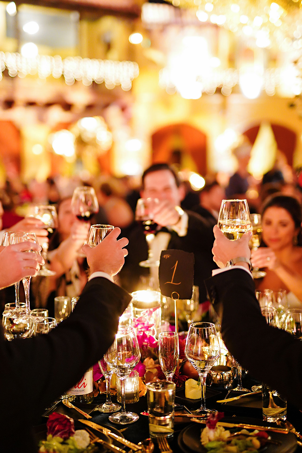 Lucia Matt Indiana Roof Ballroom Wedding Reception 146