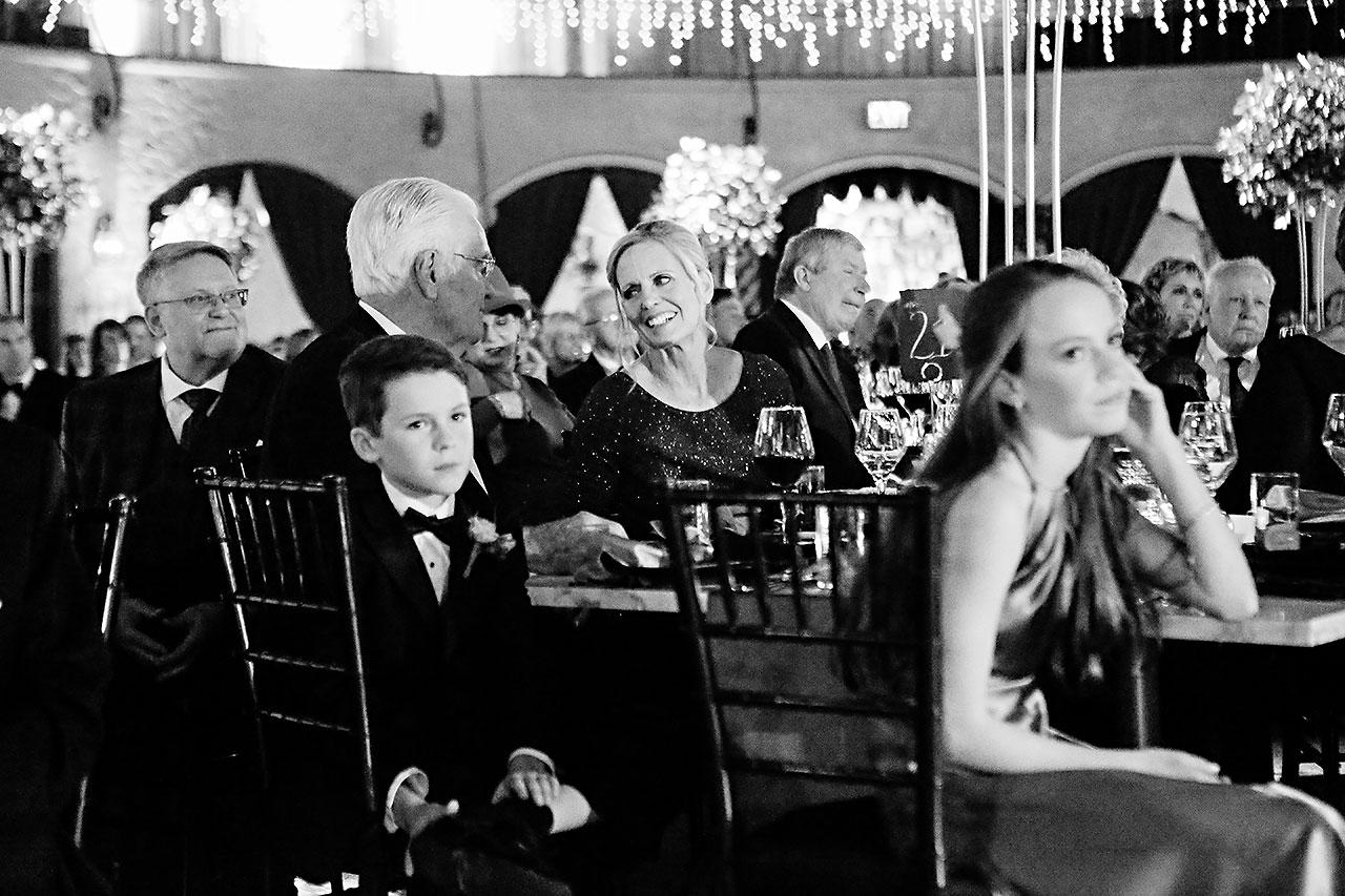 Lucia Matt Indiana Roof Ballroom Wedding Reception 136