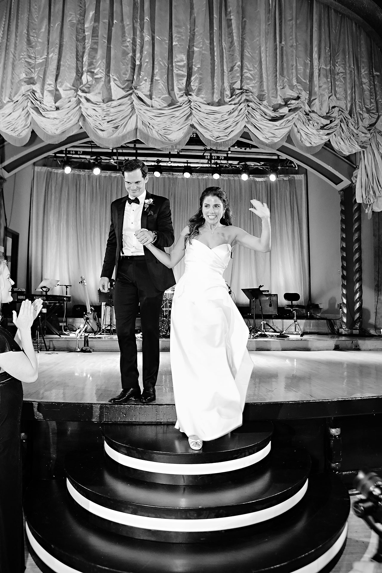 Lucia Matt Indiana Roof Ballroom Wedding Reception 130