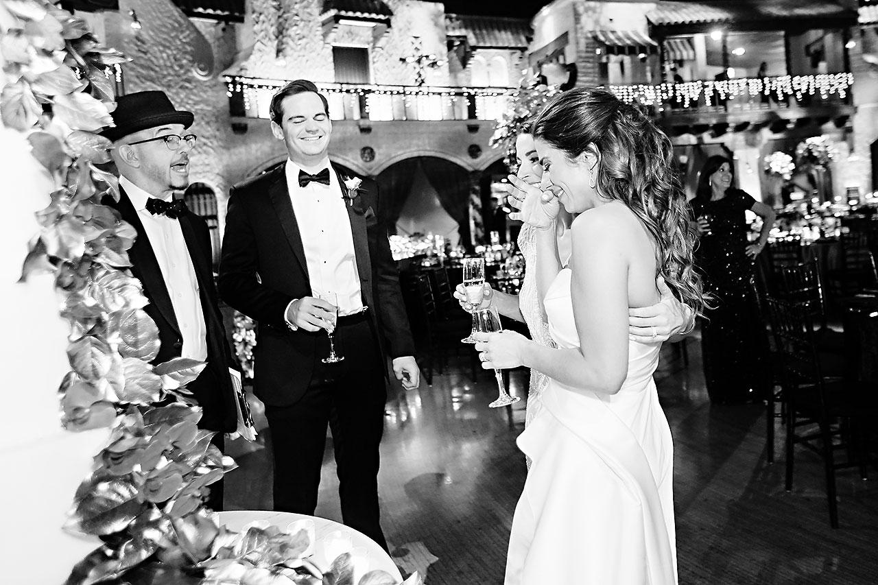 Lucia Matt Indiana Roof Ballroom Wedding Reception 126
