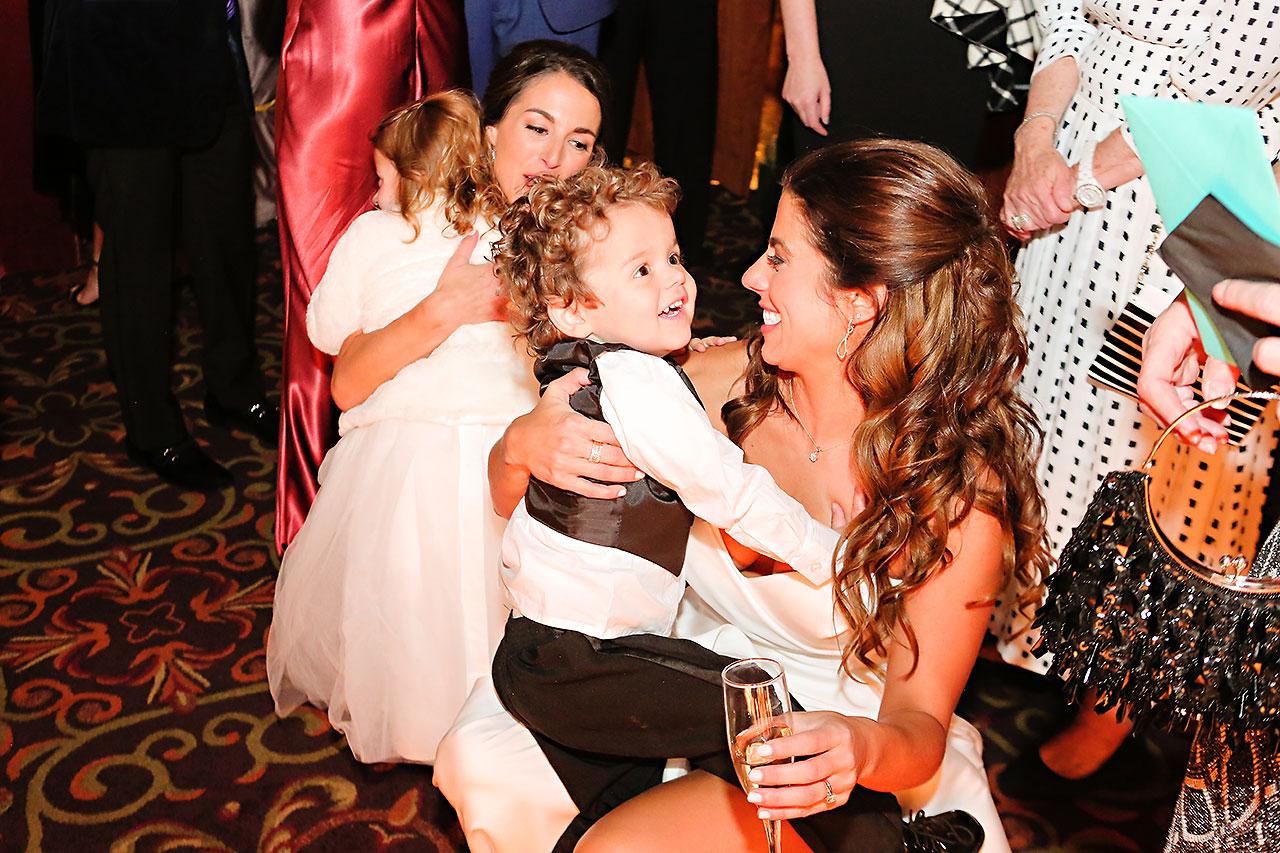 Lucia Matt Indiana Roof Ballroom Wedding Reception 122