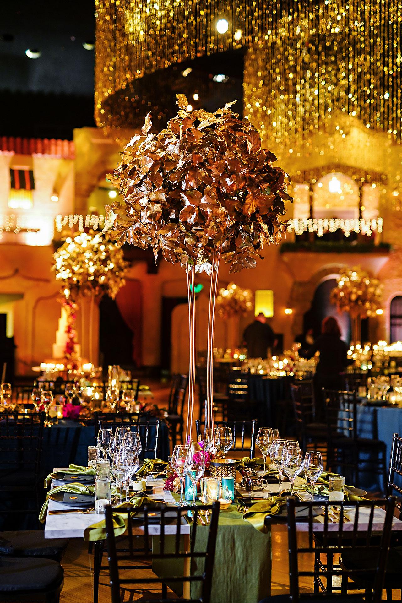 Lucia Matt Indiana Roof Ballroom Wedding Reception 075