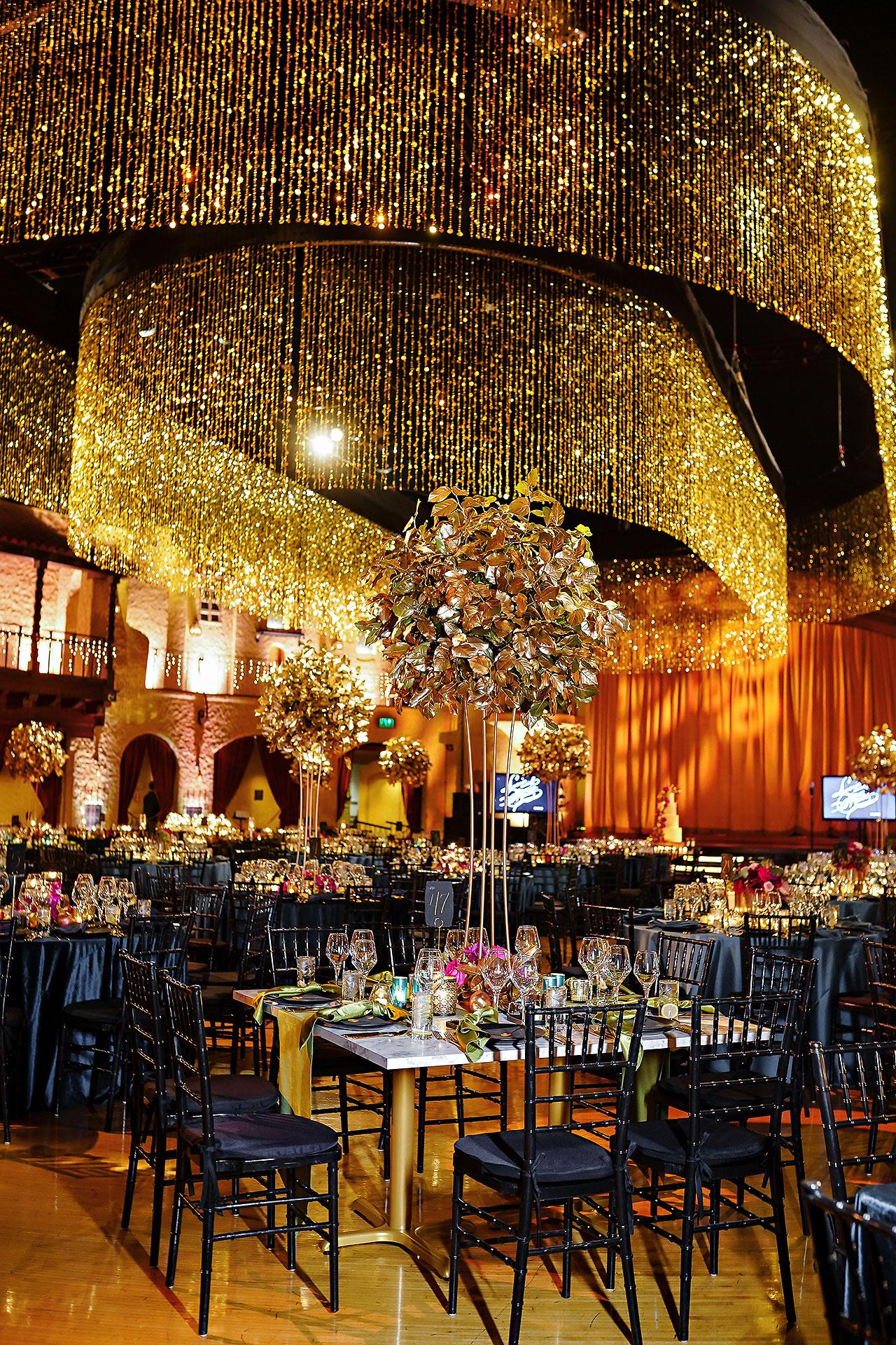 Lucia Matt Indiana Roof Ballroom Wedding Reception 073