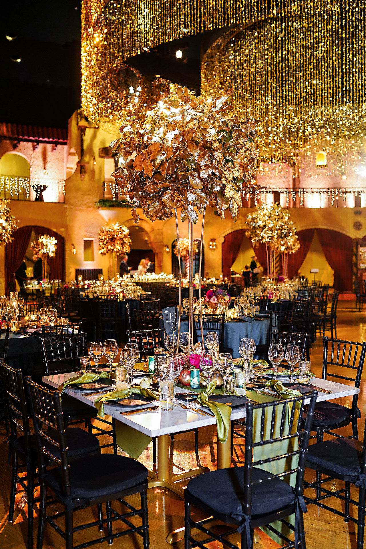 Lucia Matt Indiana Roof Ballroom Wedding Reception 071