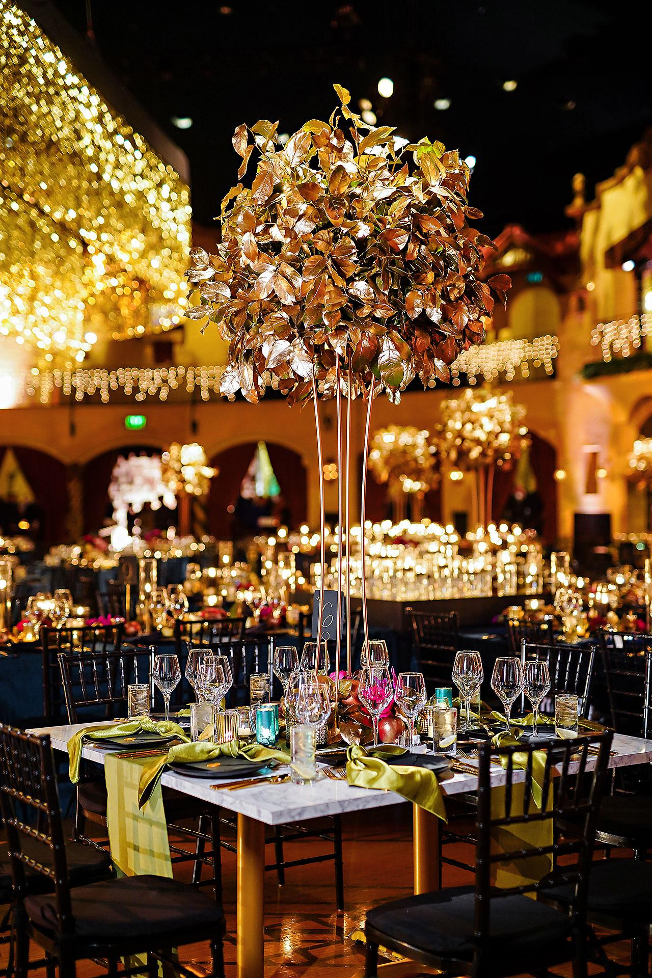 Lucia Matt Indiana Roof Ballroom Wedding Reception 064